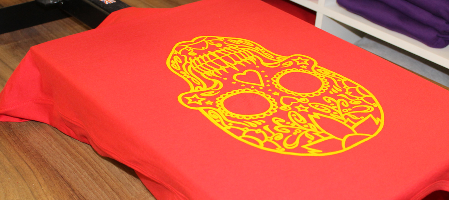 Yellow skull Discharge Ink
