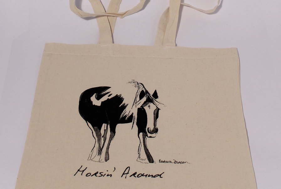 Screen printed shopper bags